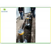 Cheap Remote Control Hydraulic Rising Bollards , Electric Retractable Bollards Height 600mm for sale