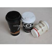 Cheap Custom Logo Printed Vending Paper Cups Disposable Ripple Wall With Lids for sale