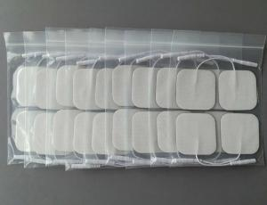 Cheap TENS unit Pads 5X5cm Replacement TENS Electrodes Pads TENS Patches For Electrotherapy for sale