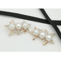 Cheap Star Shaped Zinc Alloy Metal Shoe Buckles Corrosion Resistant Easy To Put On for sale