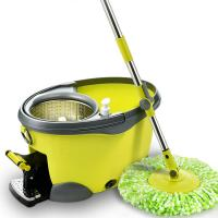 Cheap microfibre spin mop with plastic bucket from cleaning factory supply for sale