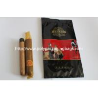 Cheap custom made printed plastic cigar packaging bag / cigar humidor bag with slid zip lock for sale
