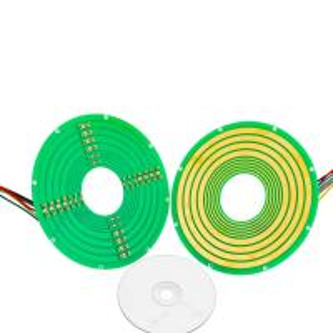 Buy cheap 8 Circuits Pan Cake Slip Ring Transmitting 4 Circuits Signals Collar Mounting from wholesalers