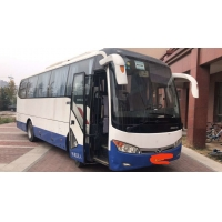 Cheap Kinglong Brand Used Tour Bus Sencond Hand Bus XMQ6898 39seats With AC Rear Engine Blue And White Color Good Condition for sale