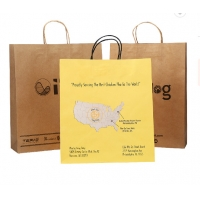 Cheap SGS Recyclable Offset Printing Kraft Paper Bags for sale