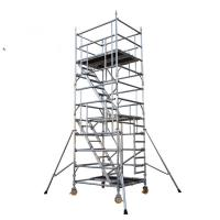 Cheap Movable Aluminum Scaffold Platform With Wheel And Brake Anti  Slip for sale