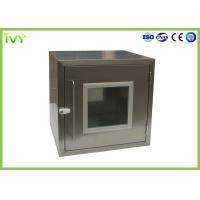 Cheap Embedded SS Static Pass Box , Laboratory Pass Box 960*600*1450 Dimension for sale