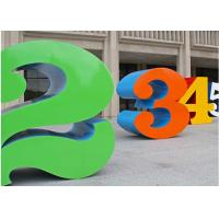 Cheap Painted Stainless Steel Number Sculpture For Public , Metal Garden Sculptures for sale