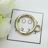 Cheap Handbag Accessories Hardware Alloy Double Round Ring Spring Gate Ring Buckle for sale