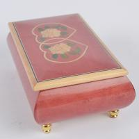 Cheap Red Wooden Music Box with Yunsheng Musical movement for Birthday Gift/Musical Box for sale