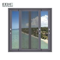 Cheap Heat Insulation Home Aluminum Sliding Glass Windows With Mosquito Net 1.4mm Thickness for sale