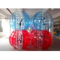 Cheap 2 Colors Bumper Ball Clear PVC Red Inflatable Balls Inflatable Body Bumper for sale