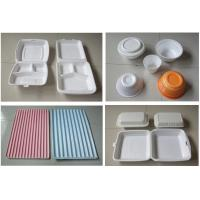 Cheap 60Hz Food Box Machine / EPS Foam Clamshell Take Away Containers Production Line for sale