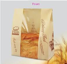Cheap Biodegradable 40gsm Paper Bags With Clear Window for sale