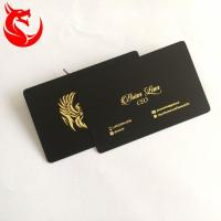 China Stainless Steel Matte Black And Gold Business Cards Different Background Coated for sale