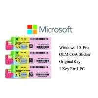 Cheap 100% Genuine Windows 10 Product Key Full Version Online Activate Multi Language for sale