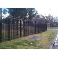 China Security Steel Tube Fence Panels , Galvanised Tubular Fencing With 25mm Tube Diameter on sale