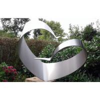 Cheap Simple Design Stainless Steel Outdoor Sculpture , Brushed Modern Metal Outdoor Sculptures for sale