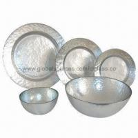 Cheap Eco-friendly Silver-plated Glass Bowls, Used as Tableware, Kitchenware, Barware for sale