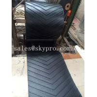 Cheap 400-2500mm Width Chevron rubber conveyor belt for inclination conveying for sale