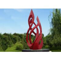 Cheap 5m Large Outdoor Metal Red Painted Stainless Steel Sculpture for sale