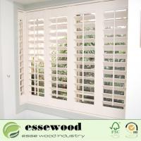 Cheap Movable Wooden Shutter Windows Interior Plantation Shutters for sale