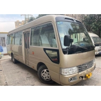 Cheap 2005 Year 23 Seats Gasoline Used Toyota Coaster Bus Used Mini Coach Bus for sale