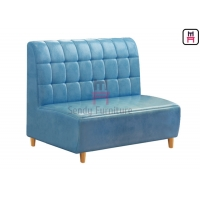 Cheap 3.5feet 0.8cbm Upholstered Booth Seating Sqaured Stitching Back for sale