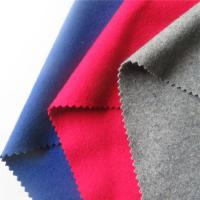 Cheap Turquoise Fluro Red Melton Wool Fabric , Wool Blend Coat Fabric For Uniform for sale