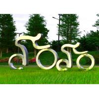 Cheap Life Size Sport Sculpture Stainless Steel Cycling Sculpture Modern Style for sale