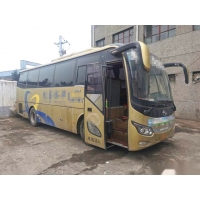 Cheap 38 Seats Yuchai Rear Engine Six Cylinders 270hp Euro V Airbag Chassis Left Steering Kinglong XMQ6901 Used Tour Bus for sale