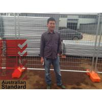 Cheap temporary fencing panels OD 32 pipes x 2.00mm thick 2.1m x 2.4m customized standard temp fencing for sale 42 microns for sale