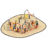 Cheap Luxury Style Rope Playground Equipment Climbing Structure Customized Size for sale