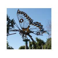 Cheap Giant Garden Insect Outdoor Metal Sculpture Stainless Steel Butterfly For Landscape for sale