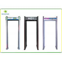 Quality Sound Light Alarm Archway Metal Detector With Self Diagonal / Calibration wholesale