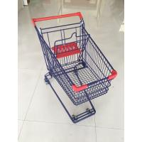 Buy cheap Wire Shopping Cart With Easy Pushing Handle and red plastic parts from wholesalers
