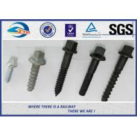 Railway Sleeper Screws spike Fasteners 90 degree without crack TUV Manufactures