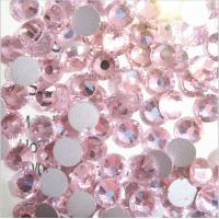 Cheap SS6 lt rose flatback loose rhinestone glass crystal stone for crafts/nail art for sale