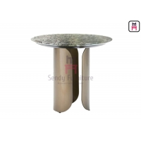 Cheap Hollowed Out 0.15cbm Stainless Steel Marble Table 55*40cm for sale