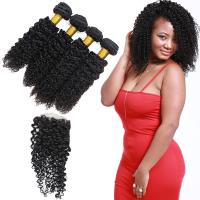 Cheap 4 Bundles Peruvian Human Hair Extensions Lace Frontal Closure OEM Service for sale