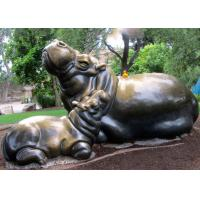 Cheap Modern Garden Decoration Outdoor Metal Sculpture , Mother ' S Love Sculpture for sale