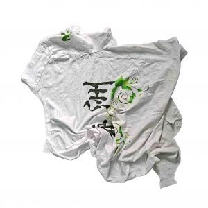 Cheap 2kg/bale White T Shirt Rags for sale