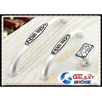 Buy cheap India Pattern Kitchen Cupboard Door Handles Zinc White Bedroom Dresser Pulls from wholesalers