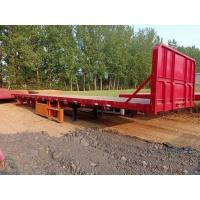 Cheap 12.5m 3 Axles 40FT Second Hand Semi Trailers Low Flatbed Semi Trailer ISO Certification for sale