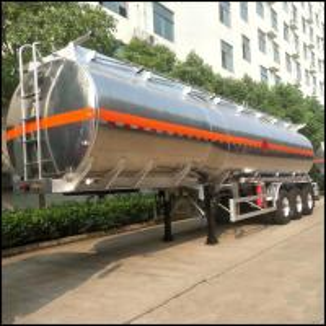 Cheap Tri Axles Aluminium Trailer Tanker Oil Fuel Diesel Transport Tank 12 Wheels for sale