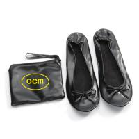 Cheap Stock Foldable Ballet Flats for Wedding Receptions and Bridesmaid Gifts Fits in a Purse, New Christmas Gift for sale