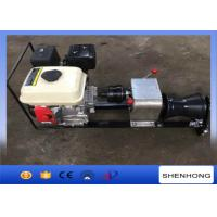 Steel Gas Engine Powered Winch 1 Ton With Axle Bar Driven Tranmission