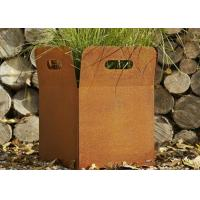Cheap Various Size Custom Corten Steel Planters For Yard / Garden Weather Resistant for sale