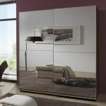 Simple Space Saving Melamine Bedroom Furniture Modern Luxury MDF With Two Full Mirror