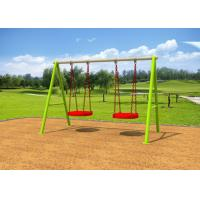 Cheap Galvanized Steel Swing Sets / Kids Outdoor Swing Set 7-10 Years Service Life for sale